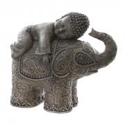 Escultura Decorativa Elefante Gordinho Buda Pequeno Dormindo
