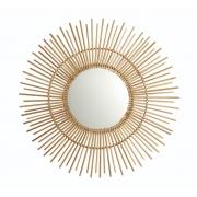 Espelho de Parede em Formato Sol - De Bambu Estilo Boho Chic