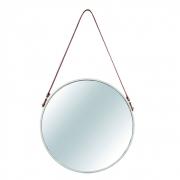 Espelho Redondo Adnet Decorativo de Metal - Off-White 45,5cm