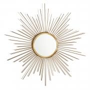 Espelho Redondo Moldura Sol - Espelho Decorativo Dourado 50cm