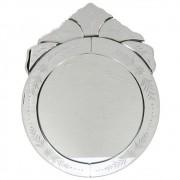Espelho Veneziano Redondo 38cm - Moldura Trabalhada Flores