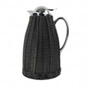 Garrafa Térmica de Inox para Café - Treliça de Rattan Preto