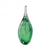 Gota de Vidro Torcido Tipo Murano - Verde Esmeralda Pequena