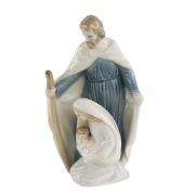 Imagem Sagrada Família em Porcelana - José, Maria e Jesus