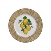 Jogo De Pratos de Sobremesa Positano - Limões Sicilianos (6 Peças)