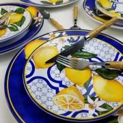 Jogo De Pratos de Sobremesa Scalla Sicília - Limões Sicilianos (6 Peças)