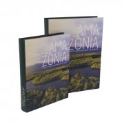 Kit Caixa Livro Decorativo em Madeira - Amazônia (2 Caixas)