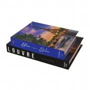 Kit Caixa Livro Decorativo Paris, França e Louvre (2 Caixas)