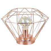 Luminária Decorativa Aramada em Metal Diamante - Cobre