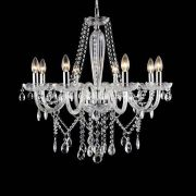 Lustre Candelabro de Cristal Maria Tereza - 8 Braços Transparente