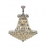 Lustre de Cristal Clássico Império - Transparente  9 Lâmpadas