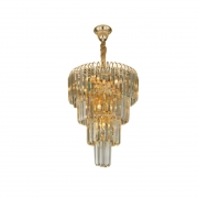 Lustre de Cristal para Sala de Jantar Versailles M Dourado