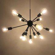 Lustre Pendente Moderno Sputnik Preto - 13 lâmpadas (não inclusas)