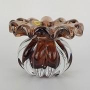 Mini Vaso de Murano Trouxinha D'Labone Cristal Rubi Dourado
