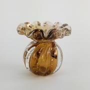 Mini Vaso de Murano Trouxinha Labone - Cristal Marrom Garnet
