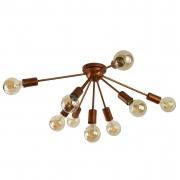 Plafon Moderno Sputnik Cobre - 9 Lâmpadas (Não Inclusas)