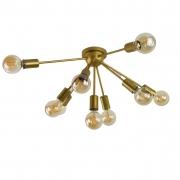 Plafon Moderno Sputnik Dourado - 9 Lâmpadas (Não Inclusas)