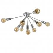 Plafon Moderno Sputnik Escovado - 9 Lâmpadas (Não Inclusas)
