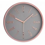 Relógio de Parede Decorativo - Cinza e Cobre Rosé Gold 30cm