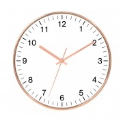 Relógio de Parede Decorativo - Rose Gold e Branco 25cm