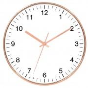 Relógio de Parede Decorativo - Rose Gold e Branco 35cm