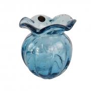 Trouxinha de Murano JR Glass - Vaso Cor Azul Aquamarine