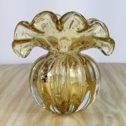 Trouxinha de Murano - Vaso Decorativo de Cristal Âmbar