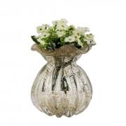 Trouxinha de Murano - Vaso Decorativo de Cristal com Pó Dourado