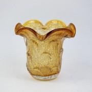 Vasinho de Murano Decorativo para Flor - Cristal Âmbar 15cm