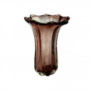 Vaso de Murano D'labone - Cristal Rubi Dourado Everest 40cm