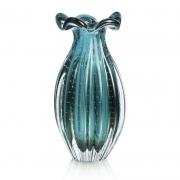 Vaso de Murano Trouxinha São Marcos - Cristal Esmeralda 20cm