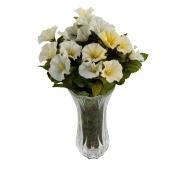 Vaso De Vidro Decorativo Para Flores (Não Inclusas) - 19 cm