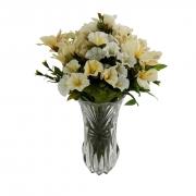 Vaso de Vidro Decorativo para Flores (Não Inclusas) - 23cm