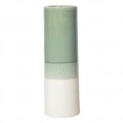 Vaso Decorativo de Cerâmica - Verde e Bege