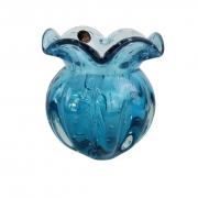 Vaso Trouxinha de Murano JR Glass - Cor Azul Aquamarine