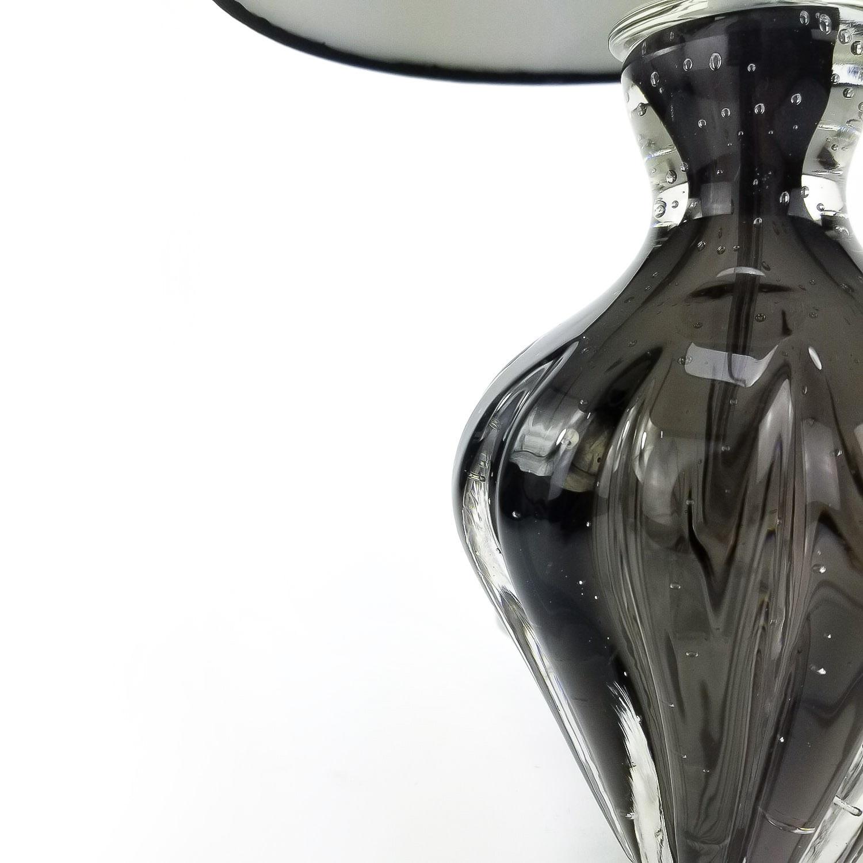 Abajur de Murano Pequeno para Quarto Labone - Cor Preto Ônix