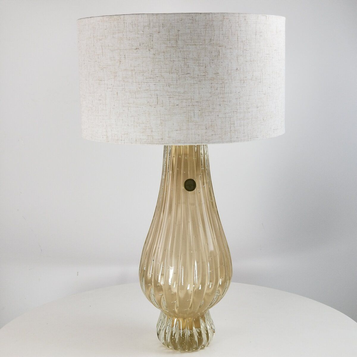 Abajur de Sala de Murano D'labone - Cristal Bege / Champanhe 50cm