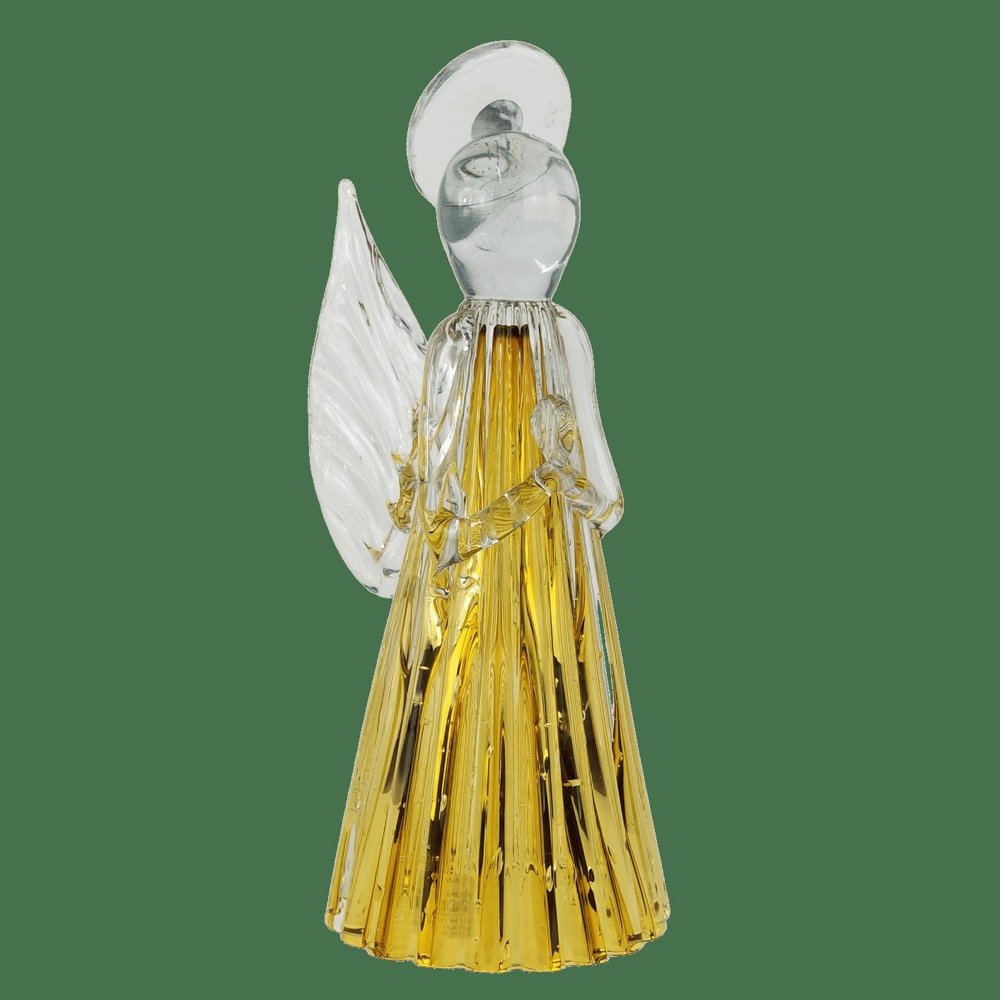 Anjo de Murano Cristais Labone - Cor Âmbar Tamanho Médio