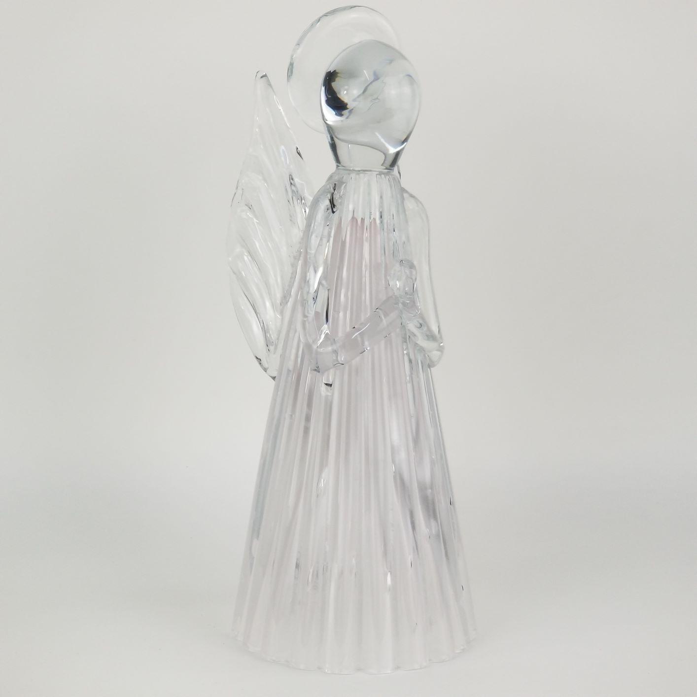 Anjo de Murano Cristais Labone - Cor Rosa Jade Tamanho Médio