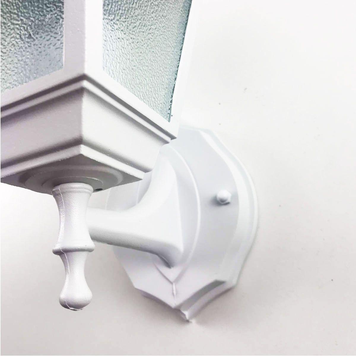 Arandela Colonial 4 Faces em Alumínio - Branco