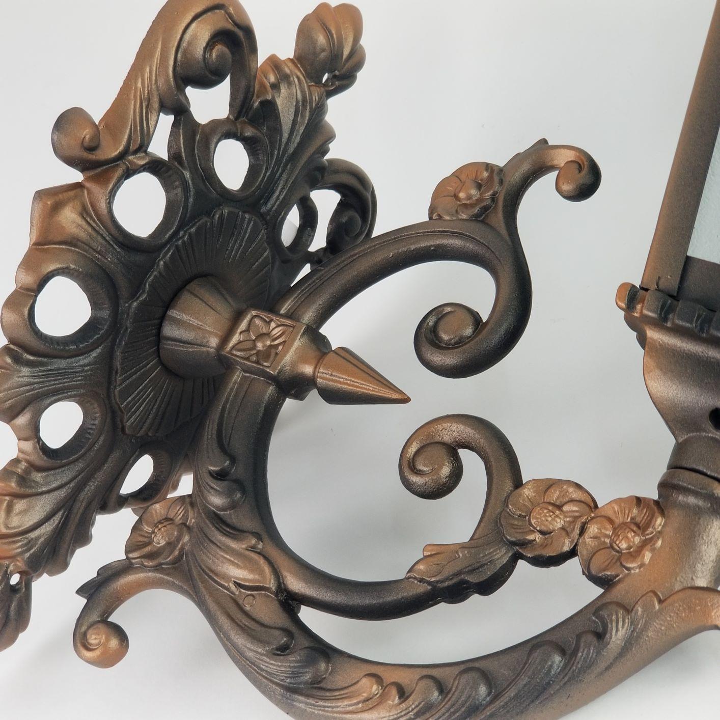 Arandela Colonial Ferro Incolustre 1513G Sinhá Grande Cobre