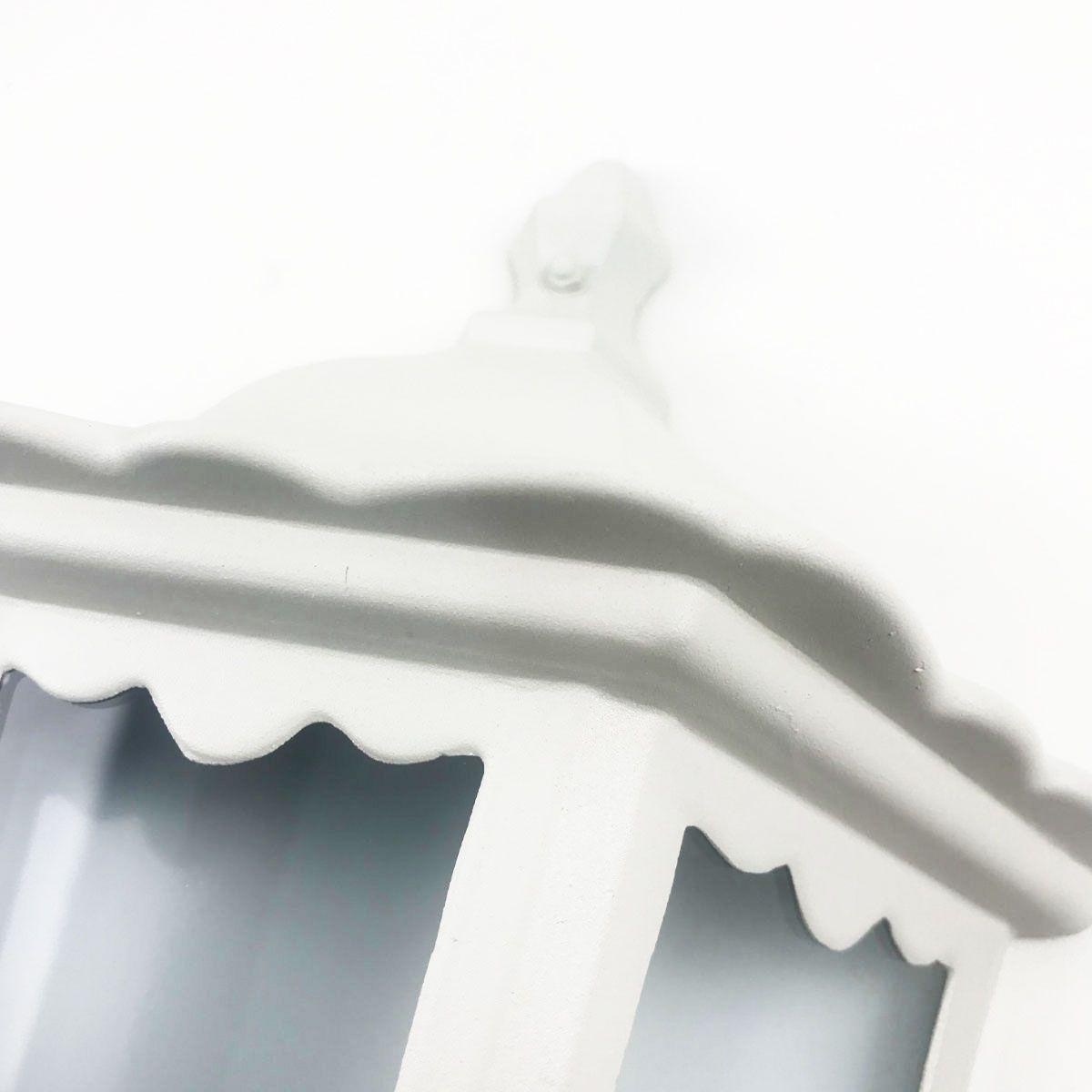 Arandela Colonial Meia Cara - Cor Branca