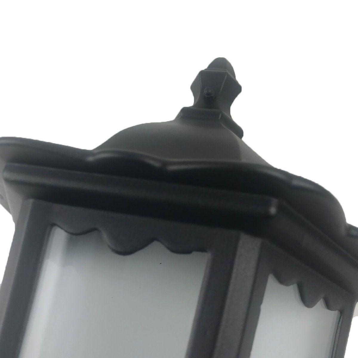 Arandela Colonial Meia Cara -Modelo Nimes Preto 43cm