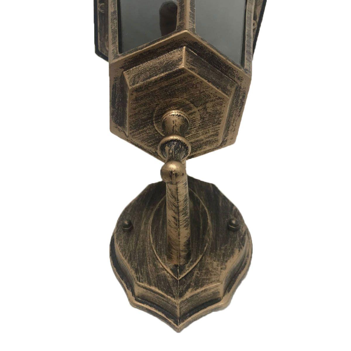 Arandela Colonial Sextavada em Alumínio - Ouro Velho
