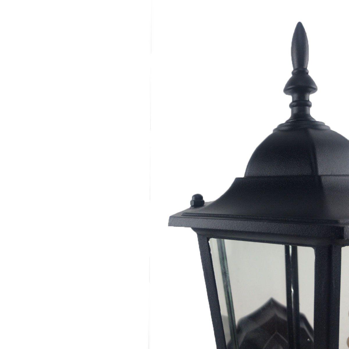 Arandela Colonial Sextavada em Alumínio - Preta