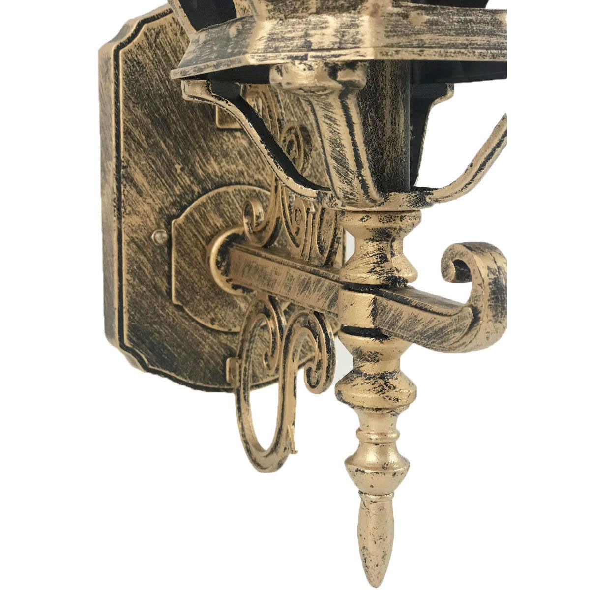 Arandela Colonial Vintage Modelo Lille (Média) - Ouro Velho