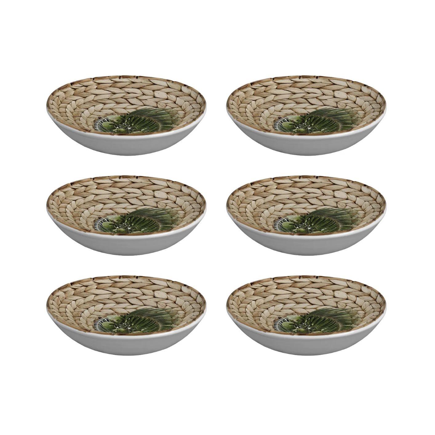 Bowls Maison Blanche Trancoso - Coqueiros e Bambu (6 peças)