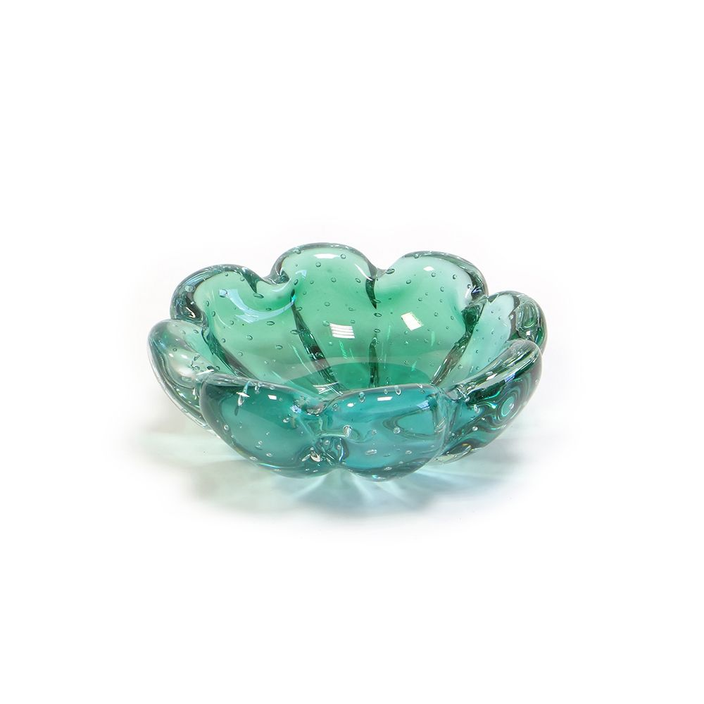 Cachepot De Murano D'Labone - Cristal Zurique Esmeralda 19cm