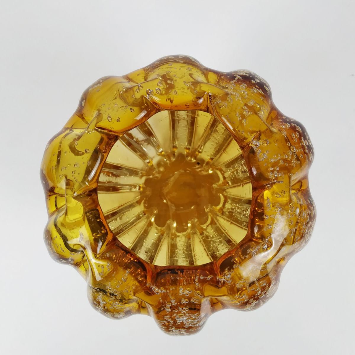 Cachepot de Vidro Murano - Âmbar 13cm