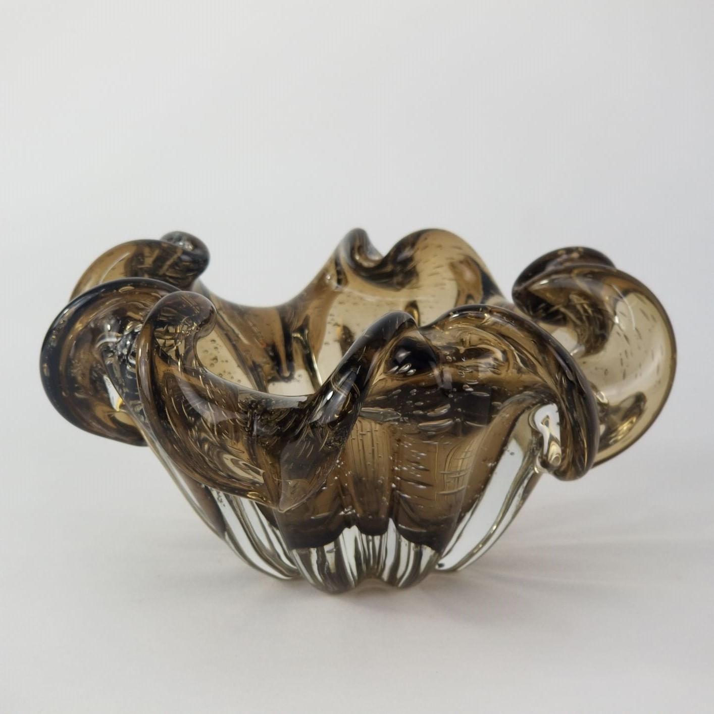 Centro de Mesa / Objeto Decorativo de Murano - Marrom